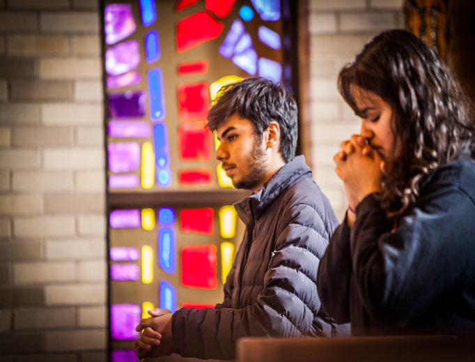 College students, including those like Aida Pabello and Israel Lopez at the University of Illinois at Chicago, have long found spiritual homes at campus Newman Centers.