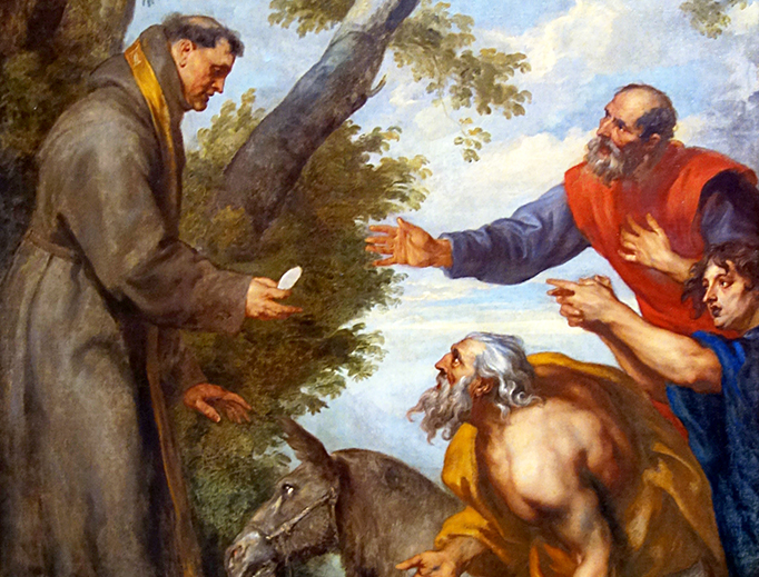 """Anton van Dyck, """"The Miracle of the Mule and St. Anthony of Padua"""" (c. 1627)"""