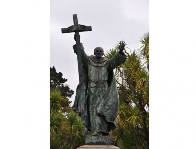 Statue of St. Junipero Serra inside Golden Gate Park.