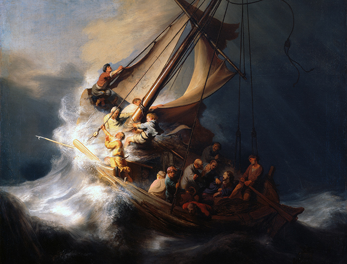 """Rembrandt, """"The Storm on the Sea of Galilee,"""" 1633"""