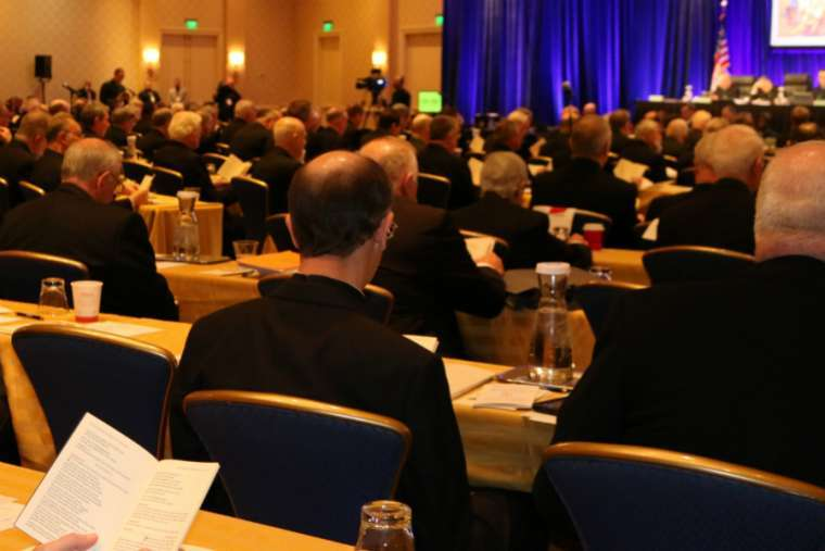 Bishops attend the USCCB autumn meeting in Baltimore, Maryland, Nov. 12.