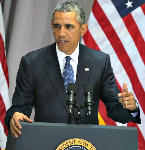 President Barack Obama speaks bout the nuclear deal reached with Iran during a speech on Aug. 5 at American University in Washington.