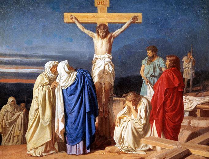 "Evgraf Semenovich Sorokin, ""Crucifixion"", 1873"