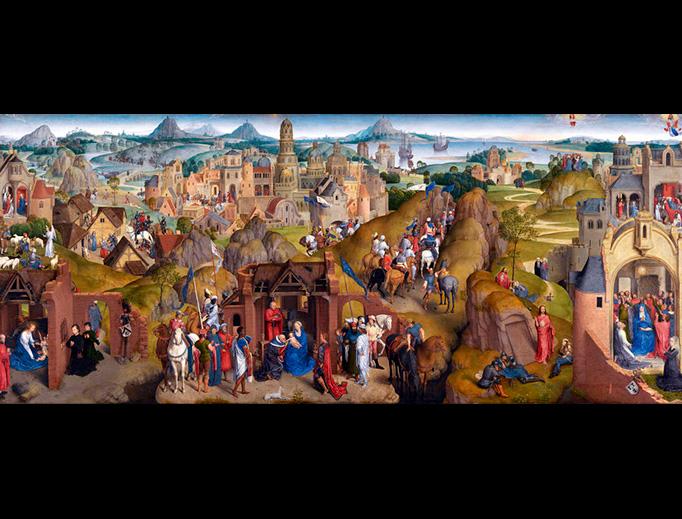 "Hans Memling, ""The Seven Joys of Mary,"" 1480"