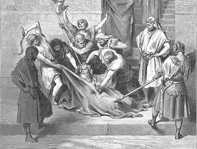 "Gustave Doré, ""The Martyrdom of Eleazar the Scribe,"" 1866"