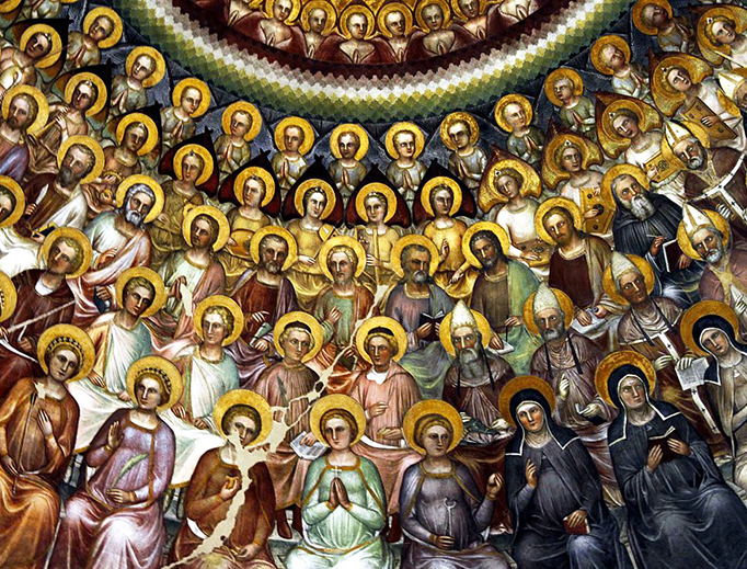 """""""The Communion of Saints"""" from the Padua Baptistry"""