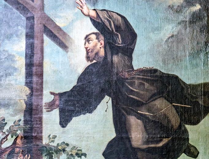 """Felice Boscaratti, """"St. Joseph of Cupertino in Ectasy,"""" ca. 1762"""