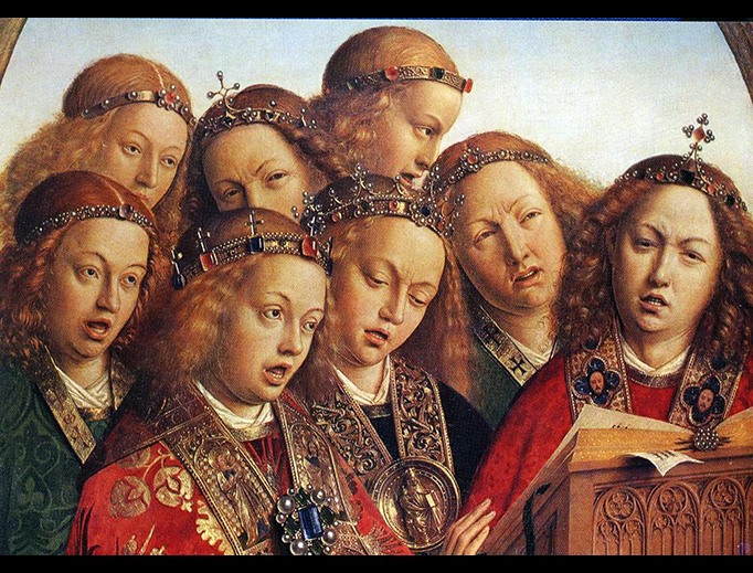 "Jan van Eyck (d. 1441), ""Singing Angels"", The Ghent Altarpiece"