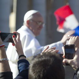 Pope Francis rides through St. Peter's Square on March 19, 2013 before his Papal Inauguration Mass.