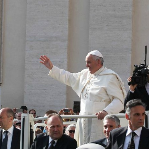 Pope Francis at the General Audience in St. Peter's Square, April 6, 2016.