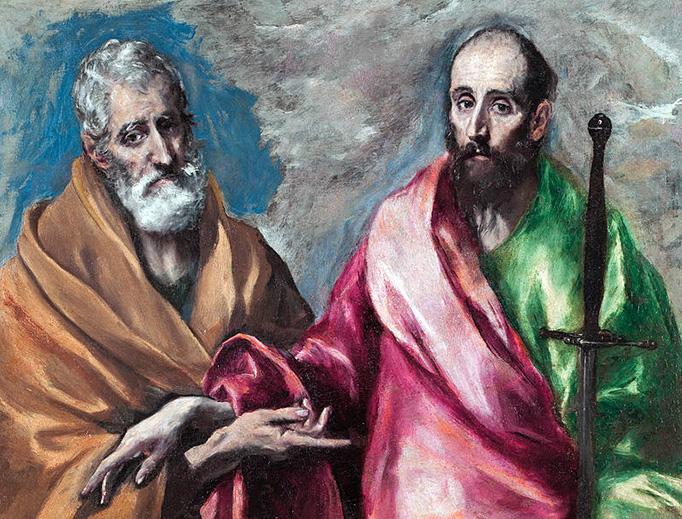 "El Greco, ""Saint Peter and Saint Paul,"" c. 1595"