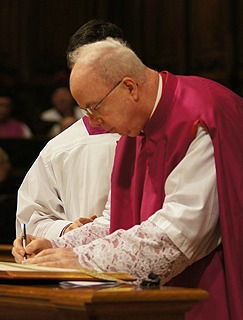 Msgr. Francis Kelly is installed Jan. 20 as a canon of St. Peter's Basilica.