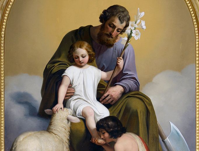 "Melchior Paul von Deschwanden (1811-1881), ""Saint Joseph and Jesus with John the Baptist"""