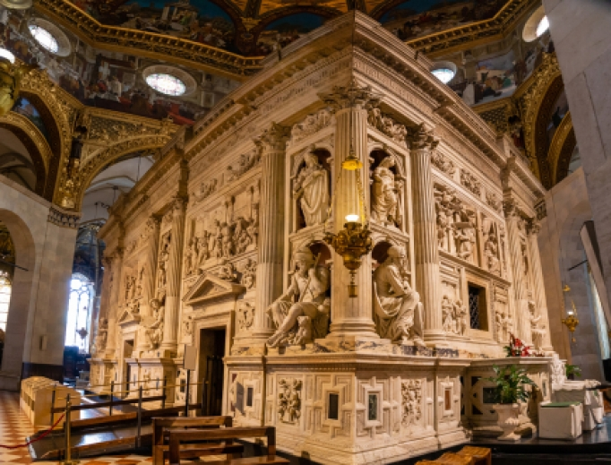 The Holy House of Our Lady in the Shrine of Loreto.