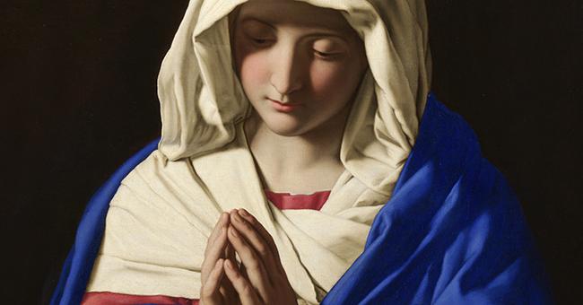 "Sassoferrato, ""The Virgin in Prayer"" (c. 1645)"