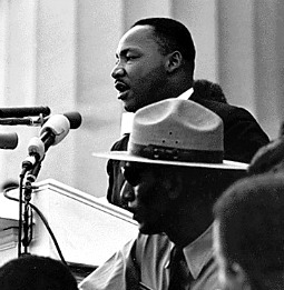 Martin Luther King Jr. delivers his 'I Have a Dream' speech at the 1963 Washington Civil Rights March.