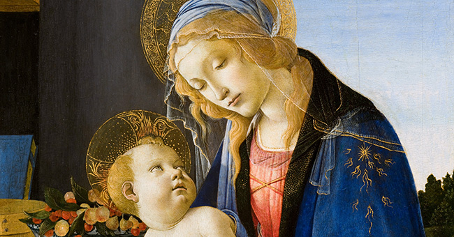 "Sandro Botticelli (1445-1510), ""The Madonna of the Book"""