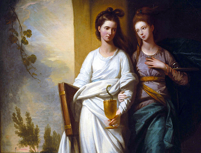 "Benjamin West (1738–1820), ""Fidelia and Speranza (Faith and Hope)"", 1776"