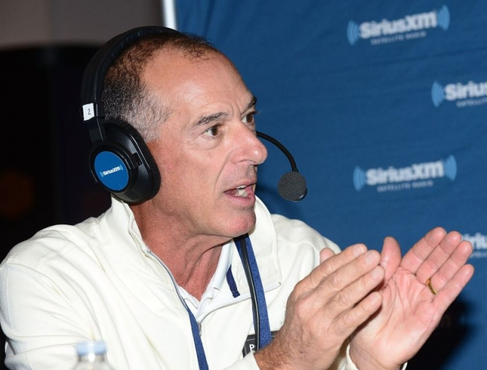 Chip Beck talks on the SiriusXM set at the PGA Merchandise Show on Jan. 24, 2018, in Orlando, Florida.