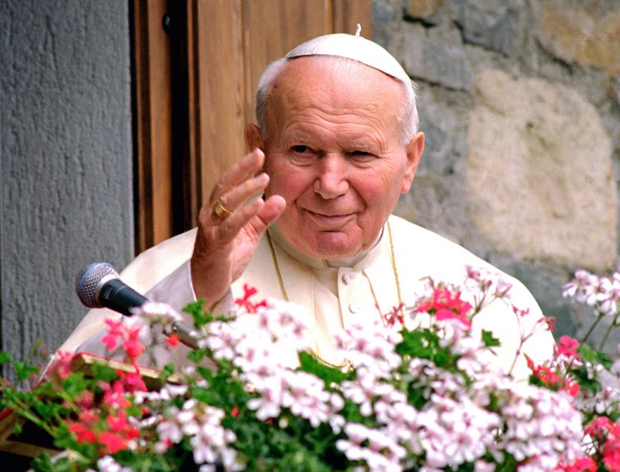 Pope John Paul II in August 1999.
