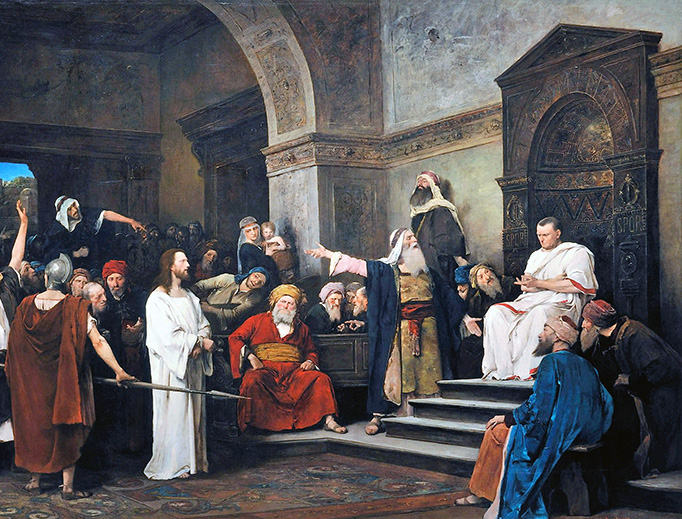 "Mihály Munkácsy, ""Christ Before Pilate,"" 1881"