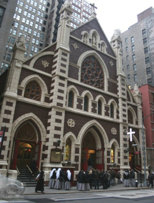 The Church of the Holy Innocents in Manhattan, where the traditional Latin Mass is currently celebrated daily.