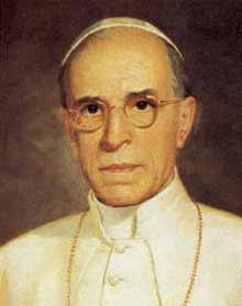 Portrait of Venerable Pope Pius XII