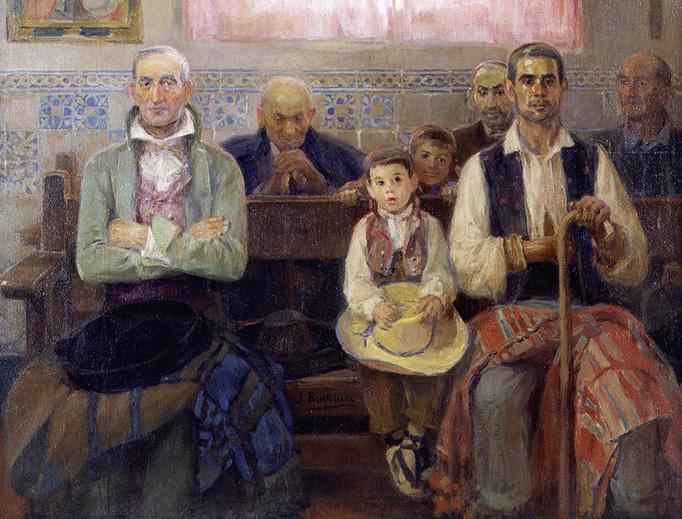"José Benlliure y Gil (1855-1937), ""Mass in the Chapel"""
