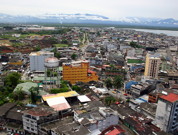 Aerial view of Buenaventura, Colombia