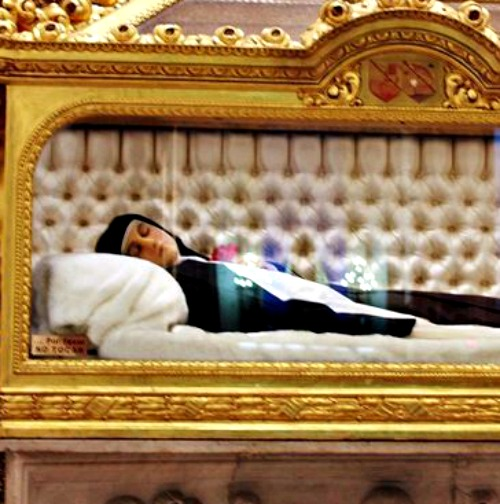 The body of St. Therese of Lisieux