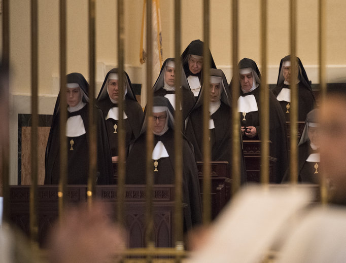 A memorial Mass in honor of Mother Mary Angelica of the Annunciation, foundress of EWTN Global Catholic Network, at the Shrine of the Most Blessed Sacrament on March 29. Mother Angelica died on March 27, 2016.