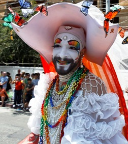An L.A. LGBT Pride parade. A Calif. LGBT group is suing Maine Catholics.