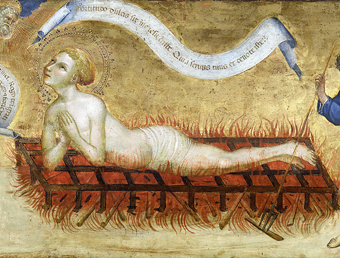 "Jacobello del Fiore (1370-1439), ""The Martyrdom of St. Lawrence"""