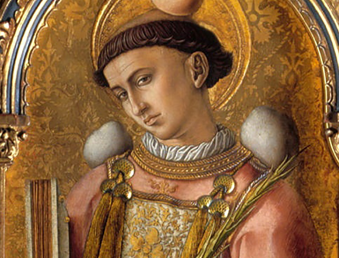 "Carlo Crivelli, ""Saint Stephen,"" 1476"