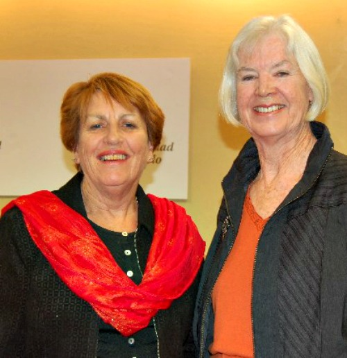 Marian Corkill (l) and Marie Marshell