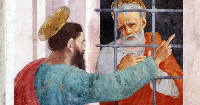 "Filippino Lippi (1457-1504), ""St. Paul Visiting St. Peter in Prison"""