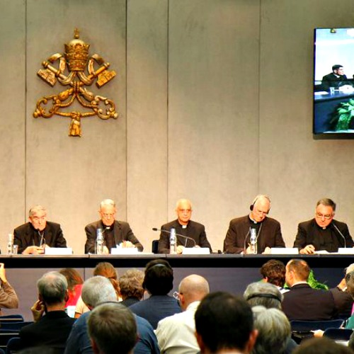 Press conference at the Vatican Press Office on Oct. 15.