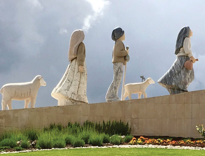 Statues of Lucia, Francisco and Jacinta, the three children who saw the Virgin Mary in Fatima, Portugal, in 1917.