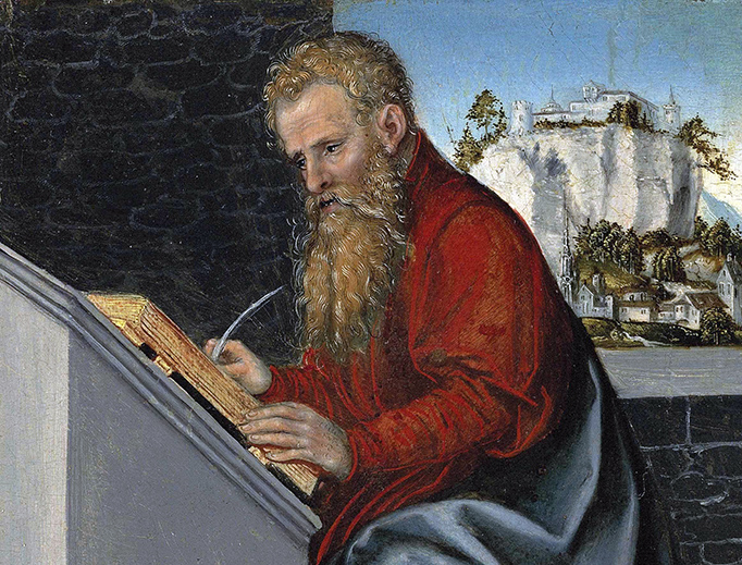 "Lucas Cranach the Younger, ""Saint Paul in His Study,"" 1547"