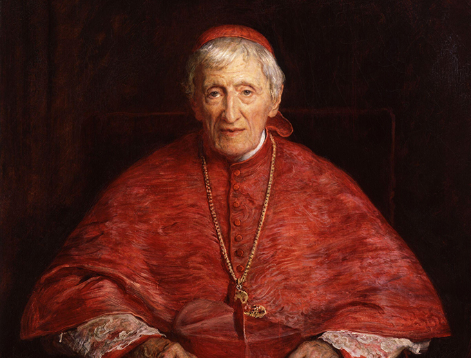 St. John Henry Newman, shown in a portrait by Sir John Everett Millais, is a good patron for Catholic students.