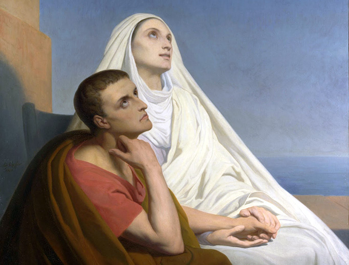 """Ary Scheffer, """"Augustine of Hippo and Monica"""", 1846"""
