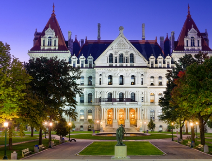 State Capitol of New York in Albany.