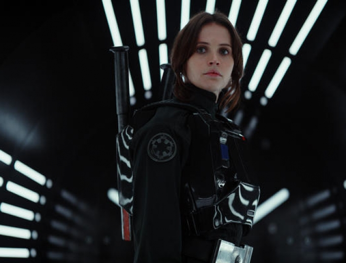 Jyn Erso (Felicity Jones) in Rogue One.