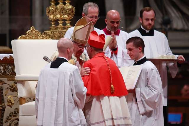 Pope Francis creates five cardinals in St. Peter's Basilica June 28.
