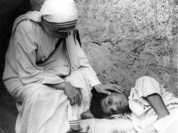 """Mother Teresa of Calcutta wrote on the back of this undated image, """"The first child I picked up. He died a saintly boy."""""""
