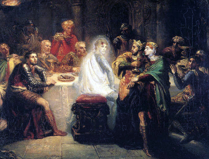 "Théodore Chassériau, ""Macbeth Seeing the Ghost of Banquo,"" c. 1855"