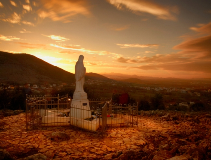 Statue of the Blessed Virgin Mary in Medjugorje.