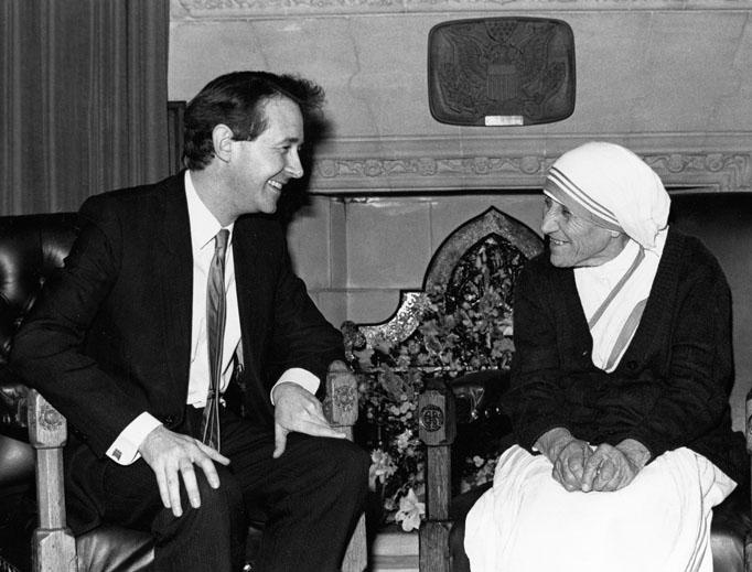 Lord David Alton with St. Teresa of Calcutta.