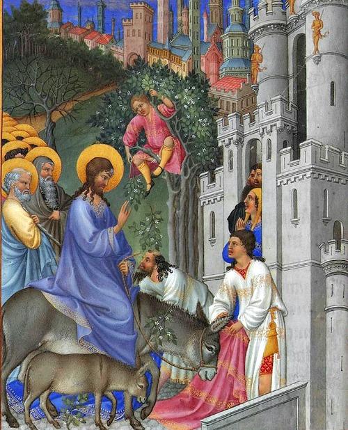 Detail of 'The Entry into Jerusalem' (Musée Condé, Chantilly)