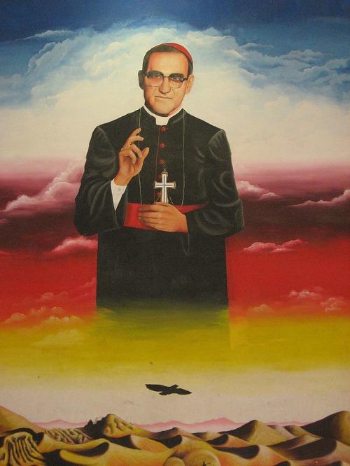 Mural of Archbishop Oscar Romero at the University of El Salvador.